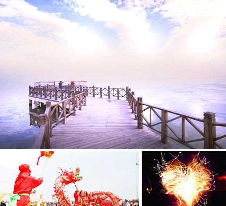 淀山湖畔一日游,龍騰四海+燒烤晚宴+焰火晚會