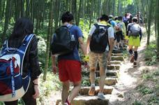 徒步登山 古道人文莫干山