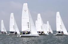 滴水湖帆船拓展一日团建 进阶级帆船绕标赛